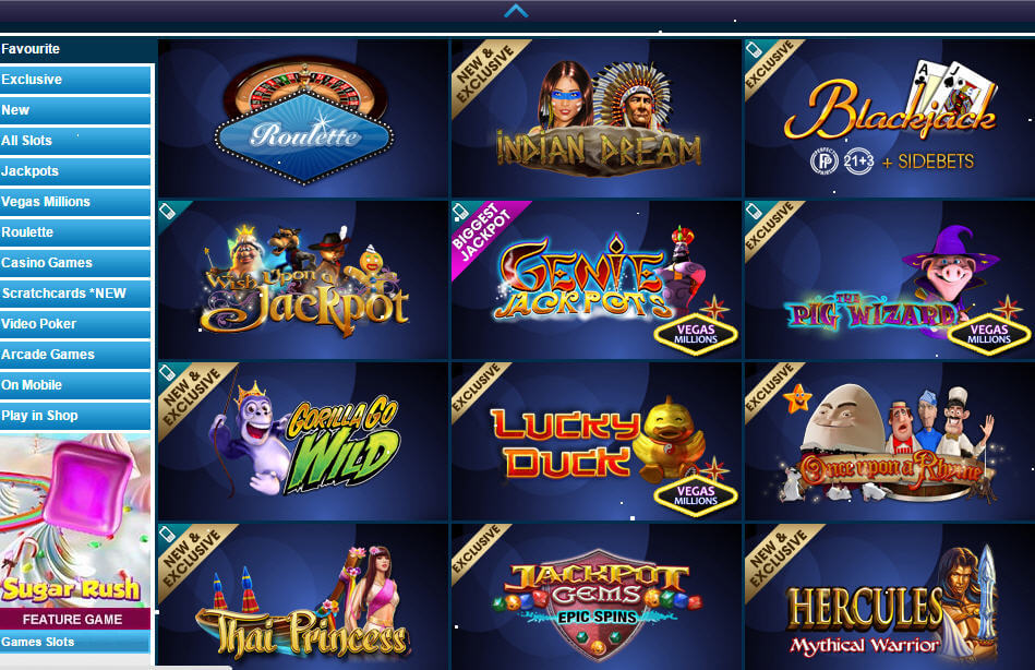 william hill casino slots