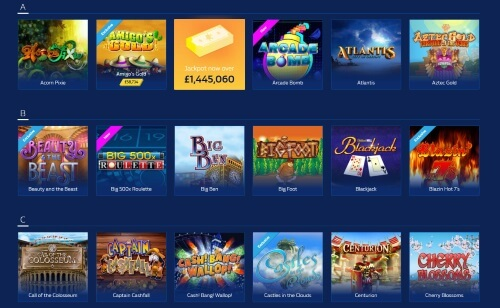 William Hill slots vegas section