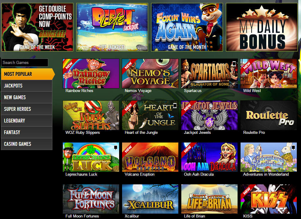 Play Our Slot Games