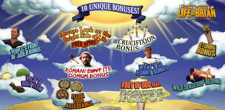 life of brian slot bonuses