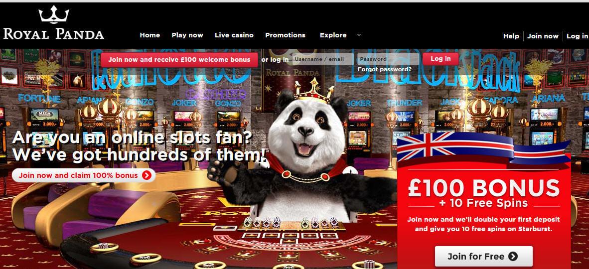 royal panda casino slots lounge