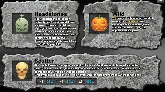 Halloween Horrors Main Symbols