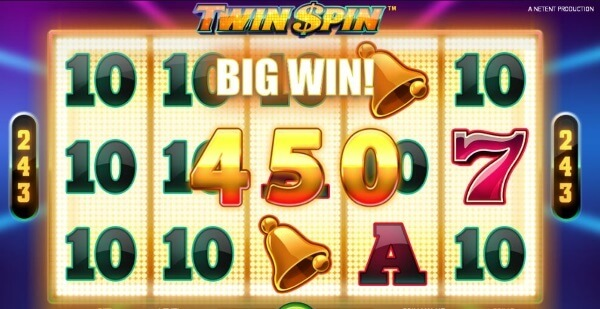 twin spin slot game big win