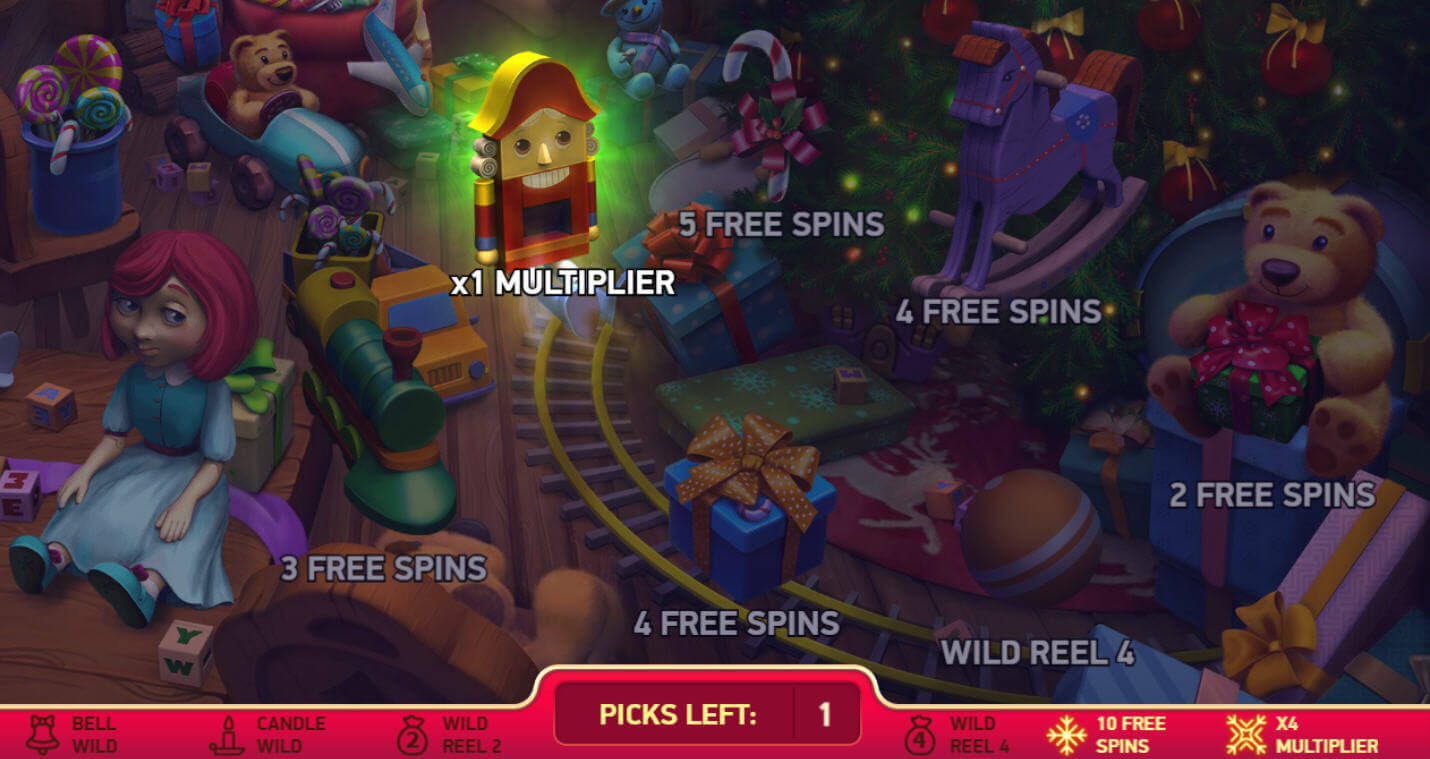 secrets of Christmas slot game bonus round