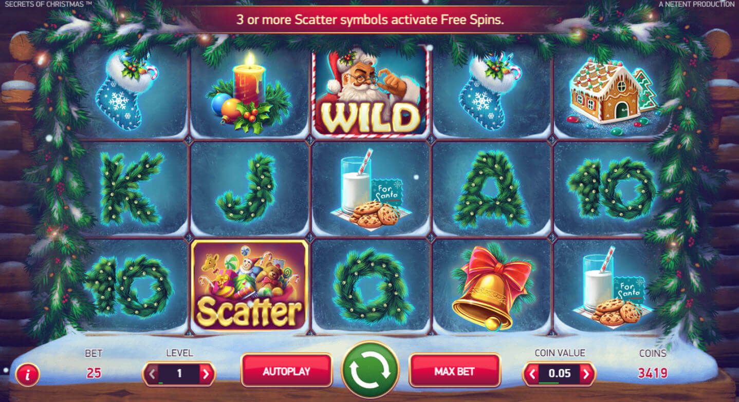 secrets of christmas slot game