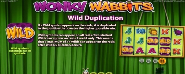 wonky wabbits slot game bonus feature