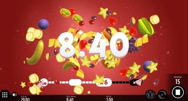 bonus feature of fruit wrap slot game
