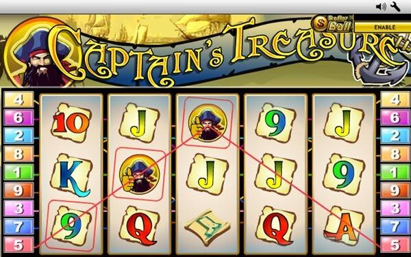 wild symbol of Captain's Treasure Slot