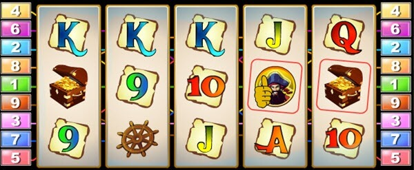scatter symbol of Captain's Treasure Slot