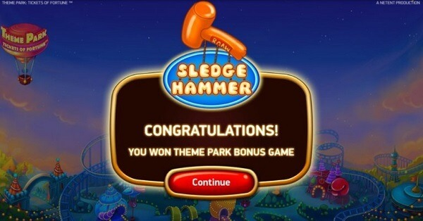 Sledge Hammer Game feature of Theme Park: Tickets of Fortune Slot