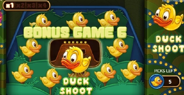 Duck Shoot bonus feature