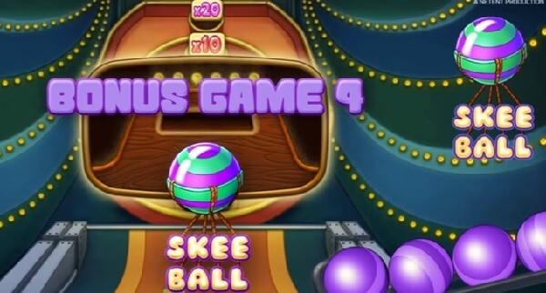 skee ball feature of Theme Park: Tickets of Fortune Slot