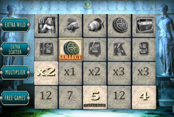 Atlantis Temple bonus round.