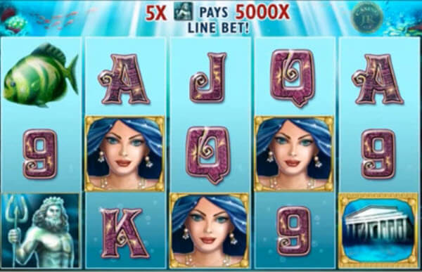 wild symbol of Atlantis Queen Slot Game