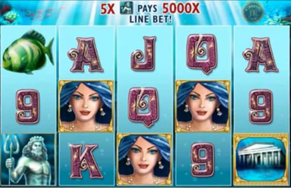 wild symbol of Atlantis Queen Slot Game