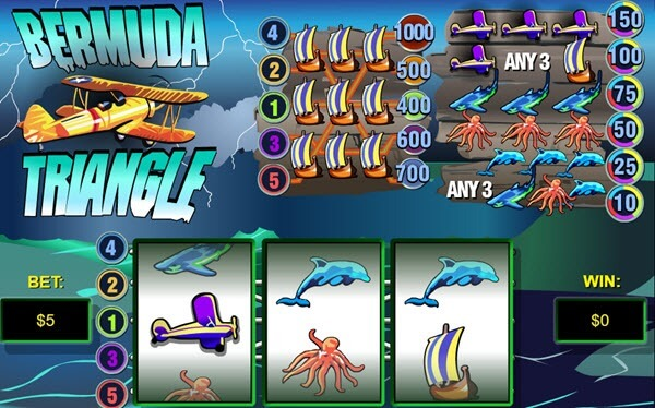 symbols of Bermuda Triangle slot game