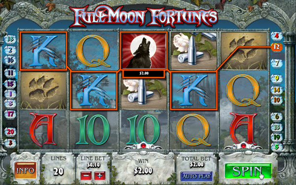 Play Full Moon Fortunes Slot at Casino.com UK