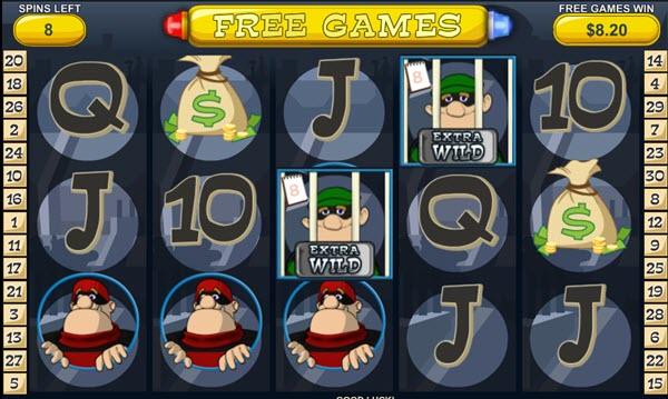 bonus game of Cops N' Bandits