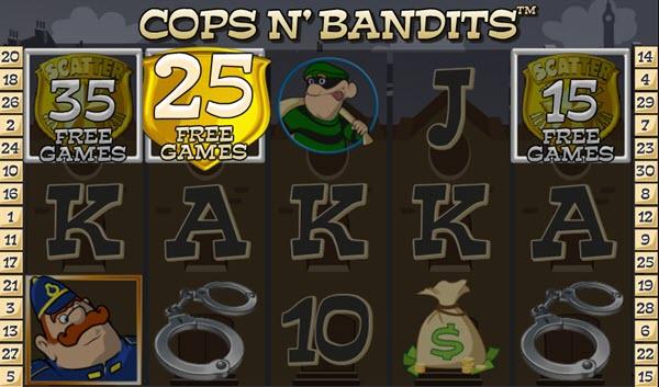 scatter symbol of Cops N' Bandits slot game