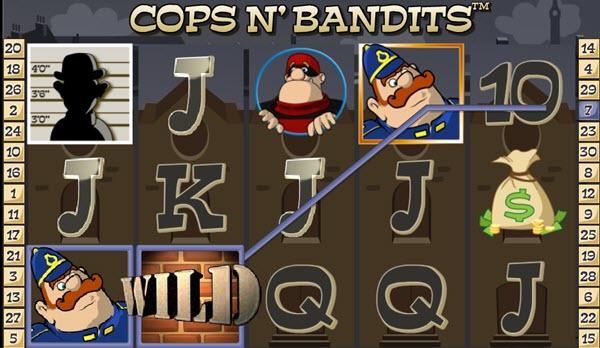 wild symbol of Cops N' Bandits slot game