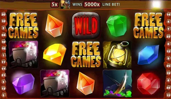 free spins of hot gems slot