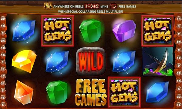 scatter symbol of Hot Gems Slot Game