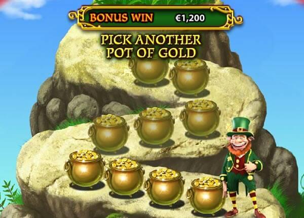 End of the Rainbow Bonus round of Plenty O'Fortune slot