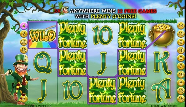 wild symbol of Plenty O'Fortune slot game
