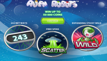 Alien Robots slot game