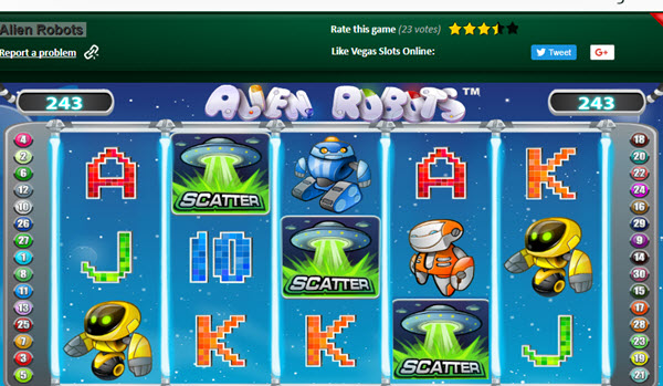 scatter symbol of alien robots slot