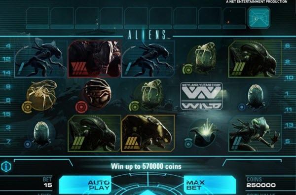 symbols of aliens slot game