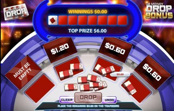 Money Drop Bonus round