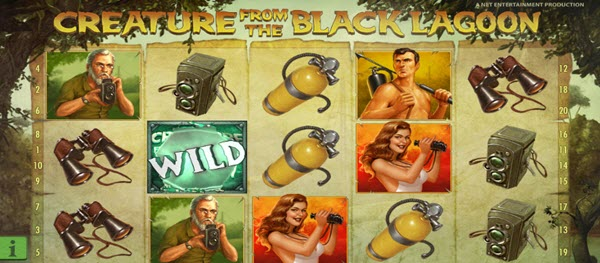 wild symbol of Creature From The Black Lagoon slot