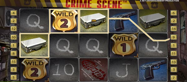 wild symbol of crime scene slot game