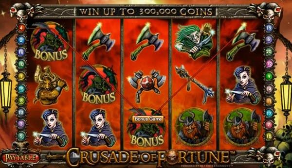bonus symbol of crusade of fortune slot