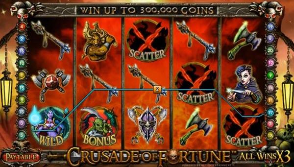 scatter symbol of cruasade of fortune slot game