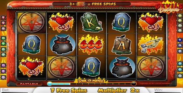 Free Spins of Devil's Delight slot