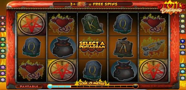 scatter symbol of devils delight video slot