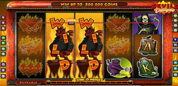 wild symbol of devil's delight slot game