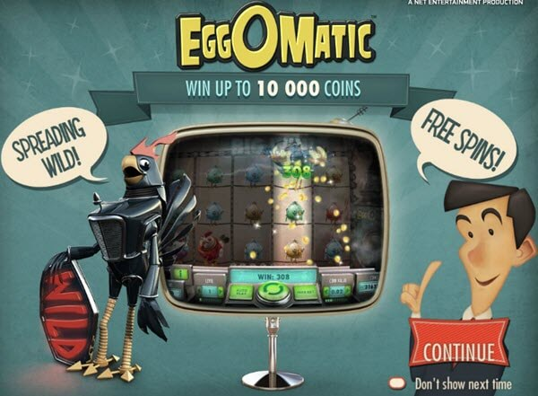 features of eggomatic slot game