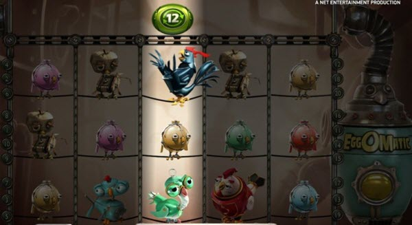 scatter symbols of eggomatic slot game
