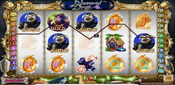 bonus symbol of diamond dogs slot