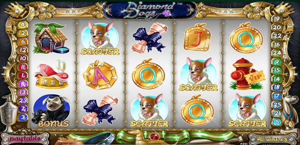 scatter of diamond dogs slot game