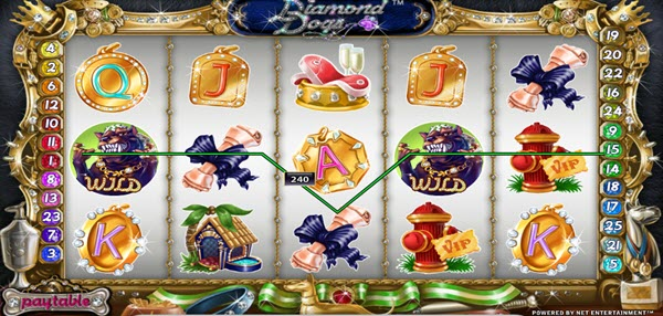 wild symbol of diamond dogs slot game