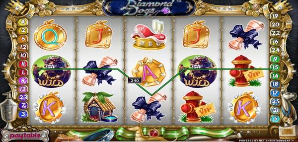 wild symbol of diamond dogs slot game