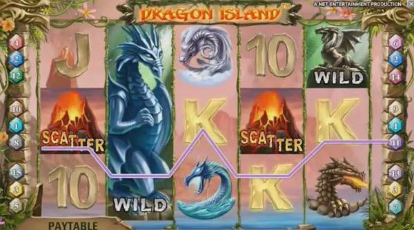 free spins of dragon island