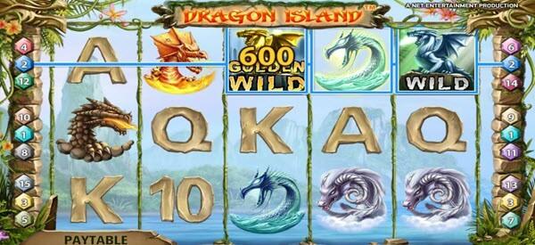 golden drafon symbol of dragon island video slot