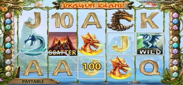 wild symbol o fdragon island slot