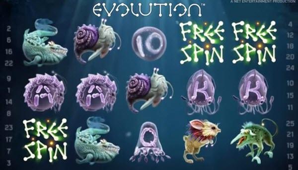 scatter symbol of evolution video slot