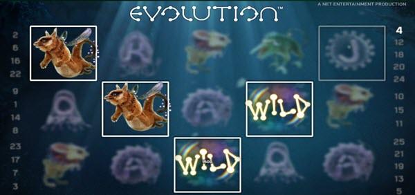 wild symbol of evolution slot game